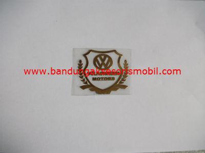Emblem Alumunium Kotak Kecil Logo Mobil VW