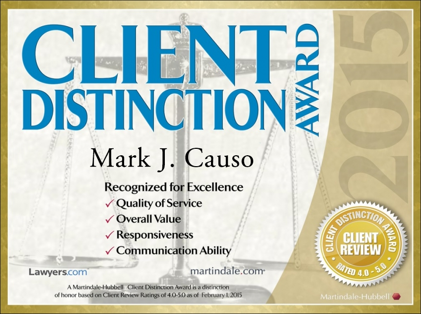 Awarded 2015   Martindale Hubbell Client Distinction Award