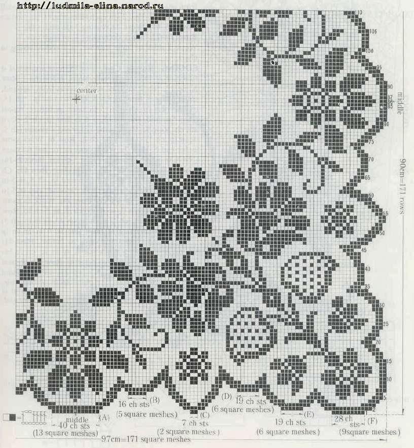 Картинки схемы филейное вязание крючком схемы6