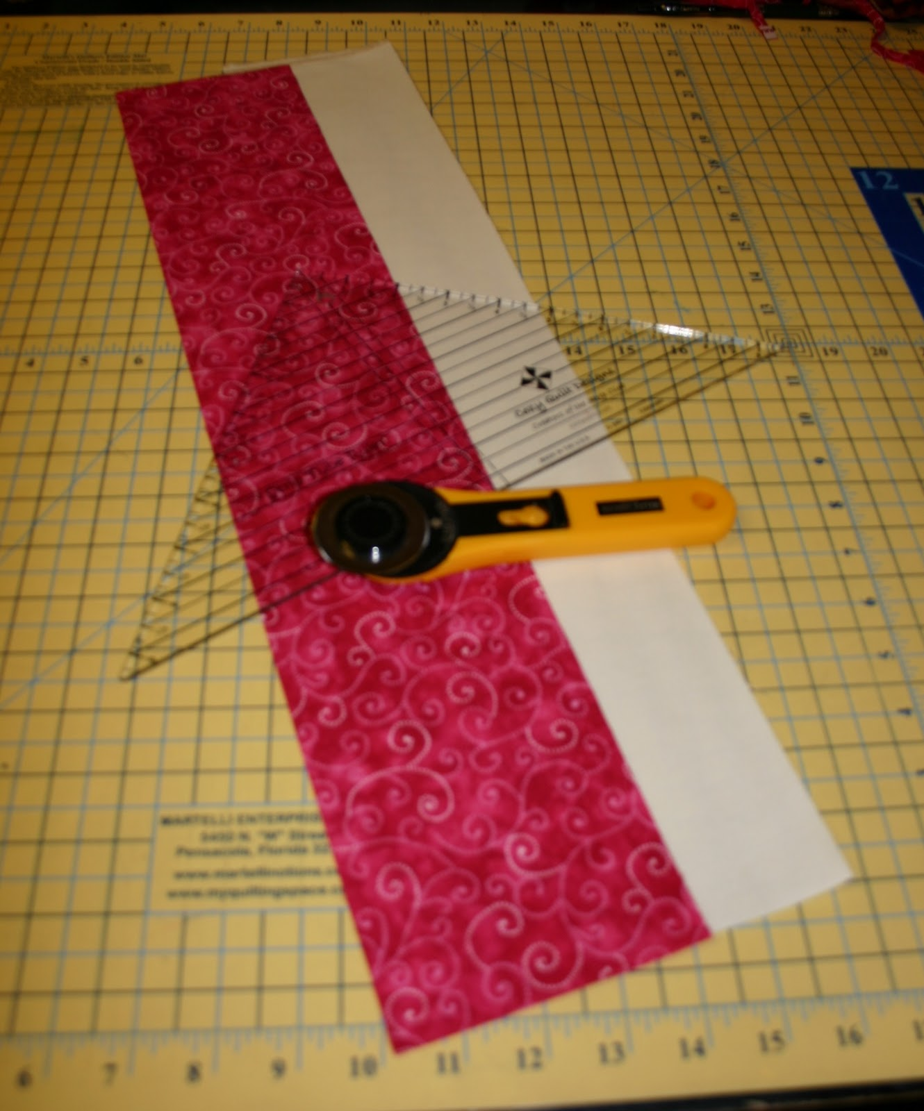 Half Square Traingles made with the Strip Tube Ruler - Orchid Owl Quilts