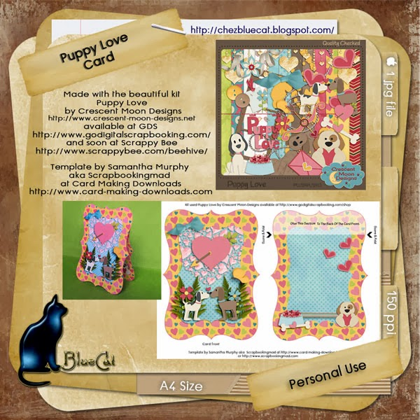 Puppy Love Bracket Card free