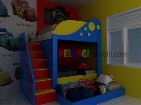 kitchenset pelangi desain interior tempat tidur tingkat