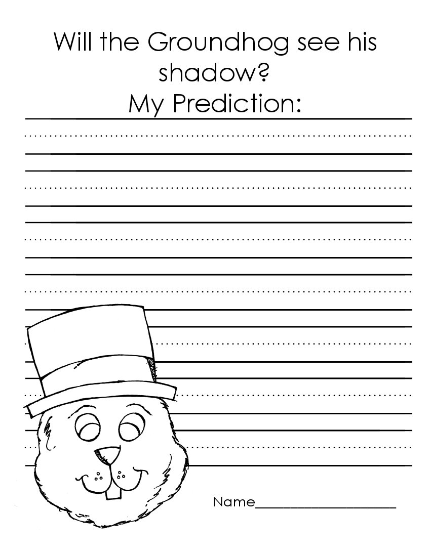 Groundhog Day Crafts, Worksheets and Printable Books ...