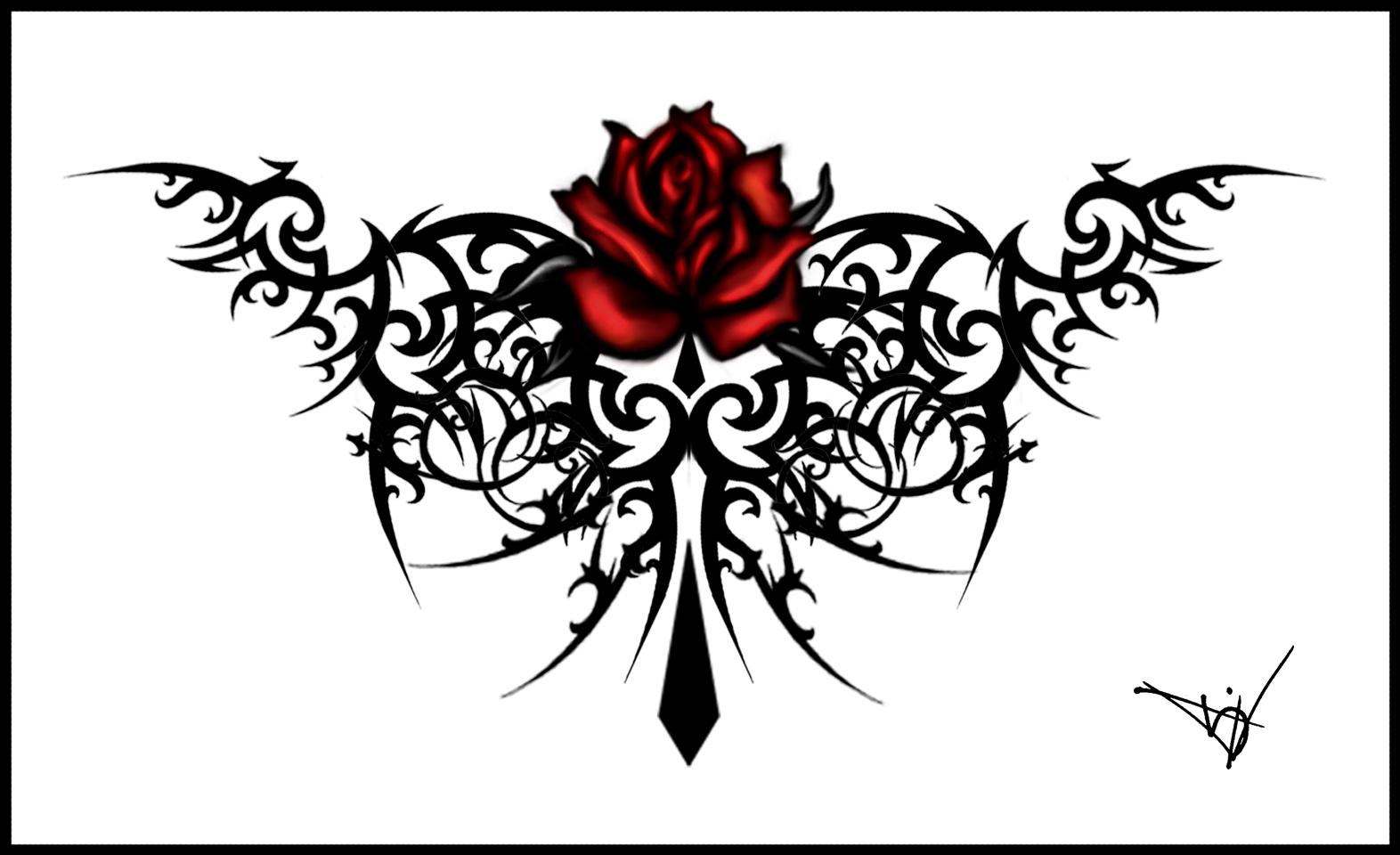 Tattoos magazine rose tattoos designs no 1 for Free rose tattoo stencils