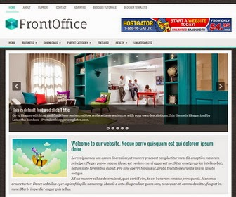 FrontOffice is a Responsive, 2 Columns Blogger Template for Business Blogs. FrontOffice Blogger Template has a Featured Area, jQuery Slider, Dropdown Menus, 468x60 Header Banner, Related Posts, Breadcrumb, 3 Columns Footer, Social Buttons, Tabbed Widget and More Features