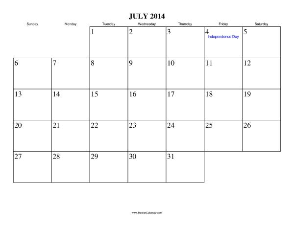july 2014 calendar printable with holidays printable calendar 2014