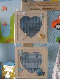 "Moldura ""Blue Hearts"""