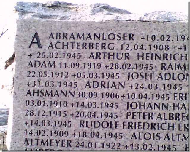 German soldiers memorial 1945 tombstone