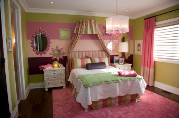Dormitorios en rosa y verde dormitorios con estilo for Recamaras rosas