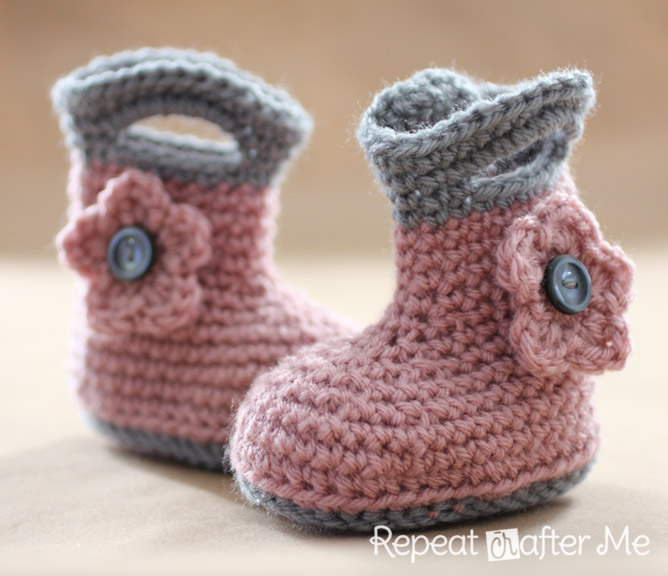 Crochet Rain Boots - Repeat Crafter Me