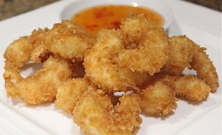 crispy fried king prawns in panko breadcrumb