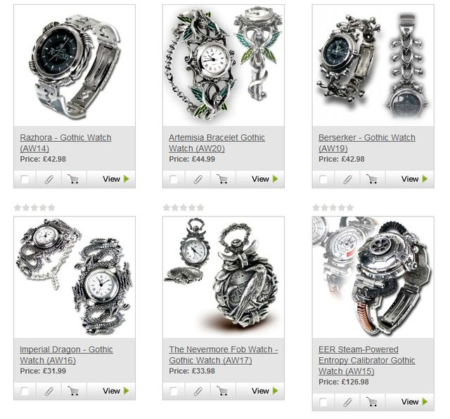 Holidays Gifts Ideas Men - Gothic Watches at OnlineGothic.co.uk