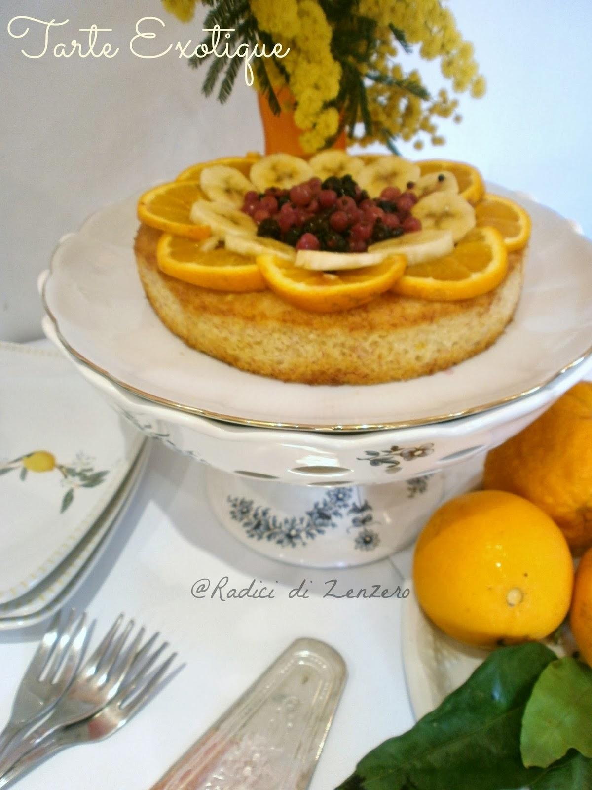 torta esotica, senza uova, senza farina, senza burro :)