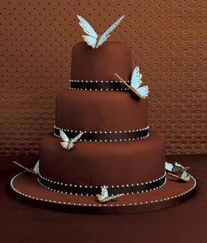 Chocolate Wedding Cakes Wedding Decorations