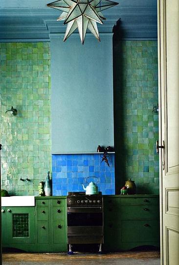 Ephemere je connaissais la subtilit des peintures Moroccan inspired kitchen design