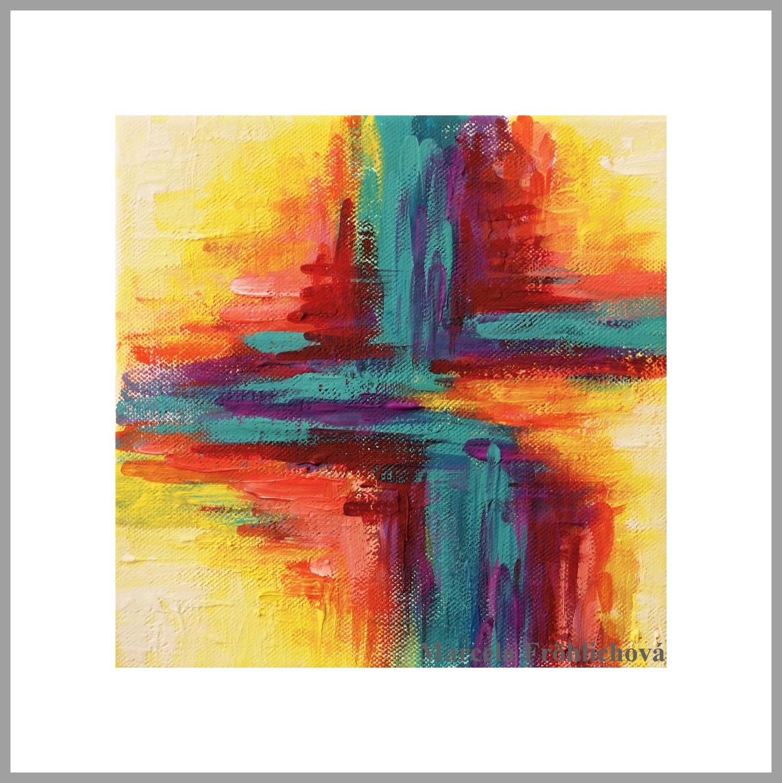 Dreamdecor Cz Tempera Abstraction No 3