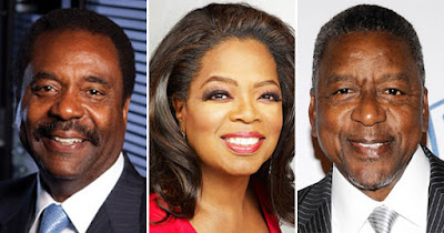 David Steward, Oprah Winfrey, and Bob Johnson