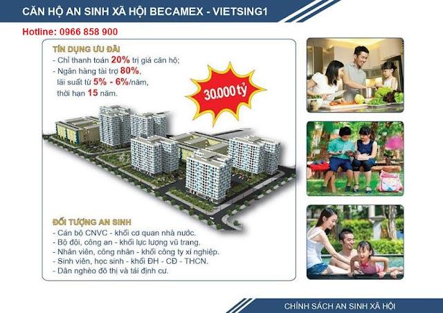 Căn hộ chung cư Becamex tại KDC Việt Sing, VSIP 1, Bình Dương ảnh 1
