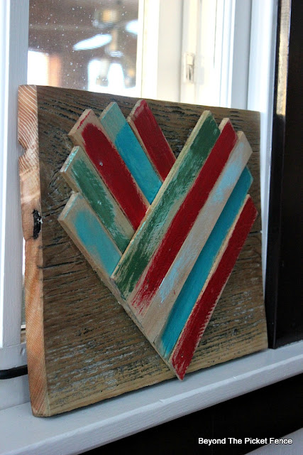 wood heart, wood shims, reclaimed wood, heart, valentines day, easy DIY, heart decor, rustic, http://bec4-beyondthepicketfence.blogspot.com/2016/01/wood-shim-heart.html