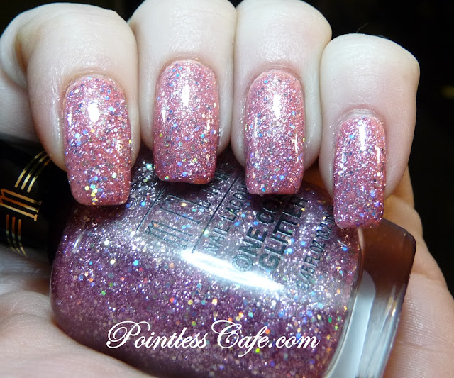 Milani One Coat Glitter Pink Flare