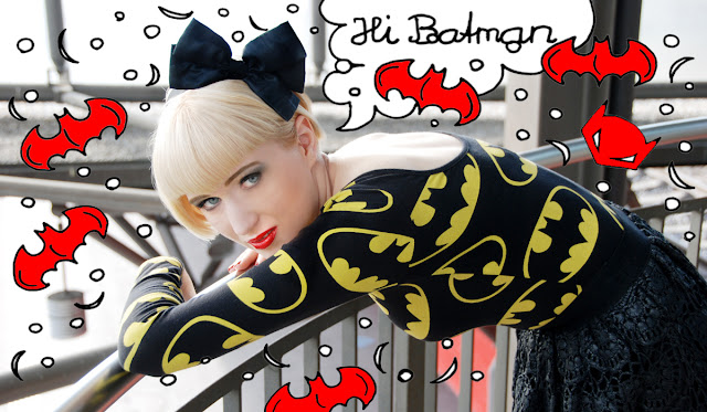Batman, Lazy Oaf, outfit, bow