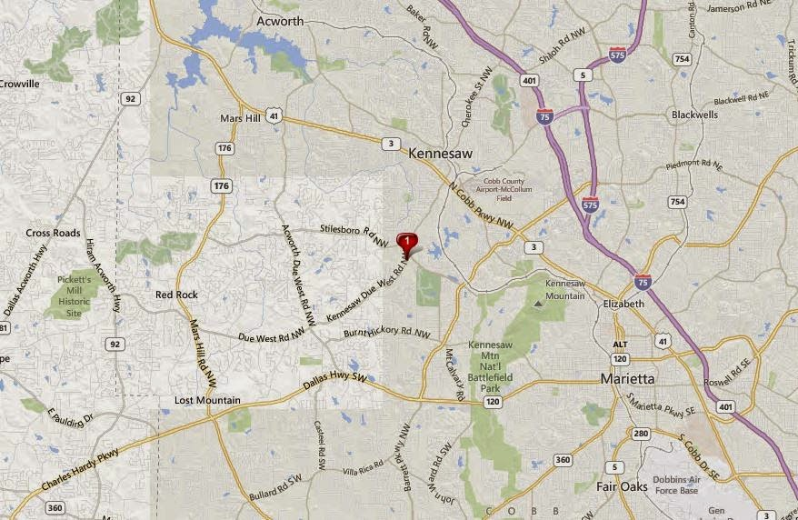 Kennesaw GA Map Location Of Arbor Green