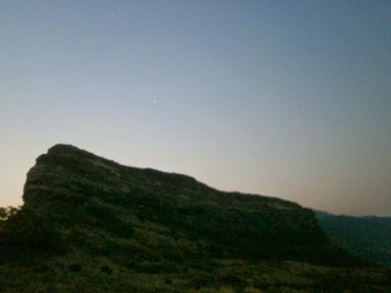 The North Star over the Alang mountain