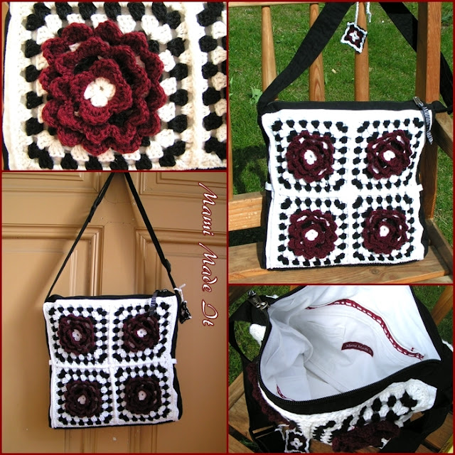 Retro Crochet Bag - Retro Häkel Tasche