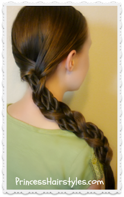 Hairstyle for school.  Mosaic twist braid tutorial.