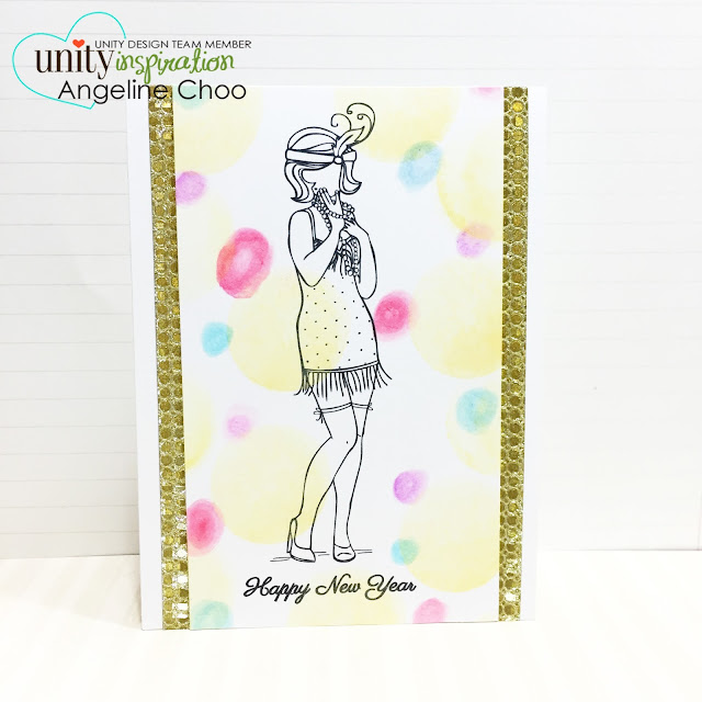 ScrappyScrappy: Party lights background #scrappyscrappy #unitystampco #partylight #card #stamp #zigcleancolor #mamaelephant