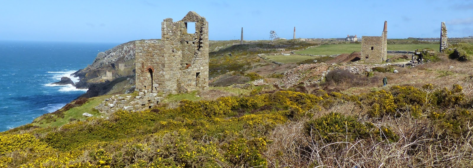 Wheal Edward stamps and West Wheal Owles engine houses
