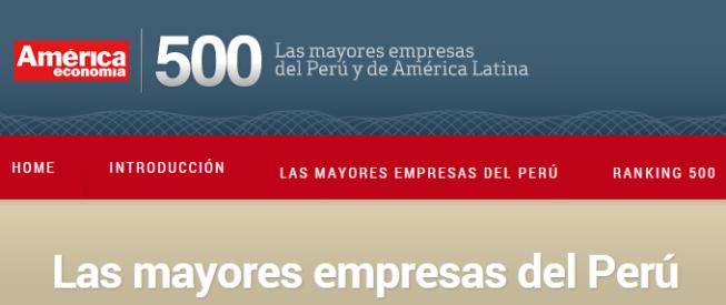Las mayores empresas del Perú America economia