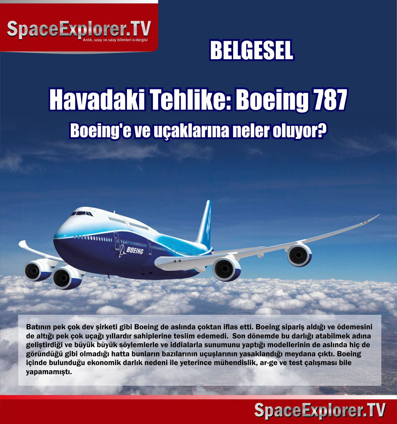 Belgesel: Havadaki Tehlike: Boeing 787 (Boeing'e ve uçaklarına neler oluyor?) Video