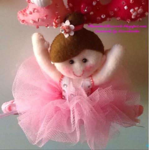 Ballerina, tutù in tul,feltro, pannolenci .