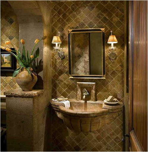 Tuscan bathroom design ideas room design ideas for Design ideas for a small bathroom remodel
