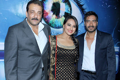 Sanjay Dutt, Ajay Devgan and Sonakshi Sinha together in Big Boss 6