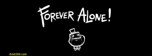 Ảnh bìa Facebook cô đơn, buồn - Alone Cover timeline FB, alone forever troll