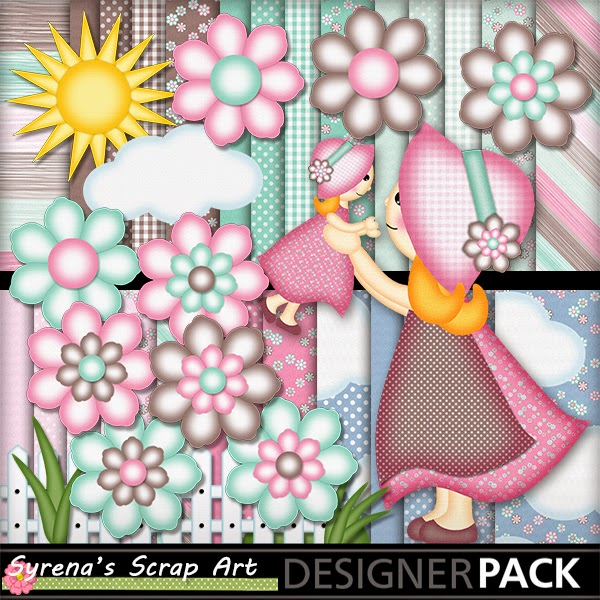 Mom & Baby Digital Scrapbook Kit