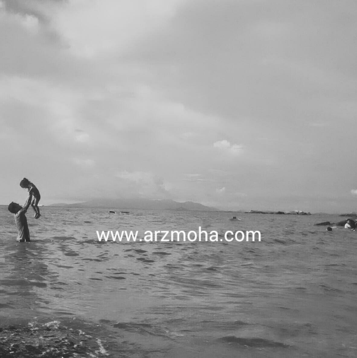 cik puteri, kids, my daughter, girl, father, abah, my lifestyle, beach, lautan, arzmoha, gambar cantik, pantai miami pulau pinang.