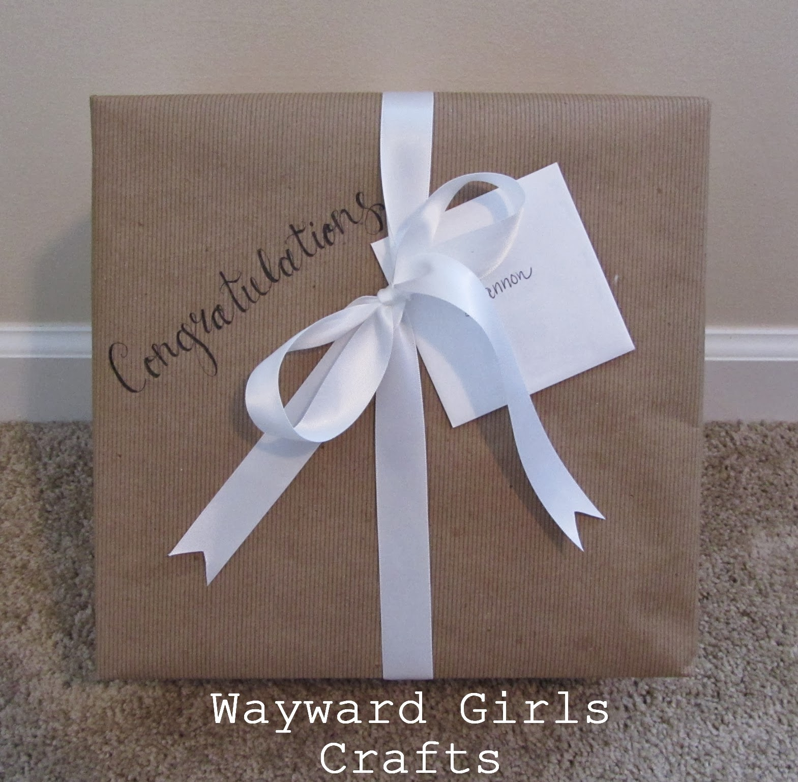 wayward girls crafts present wrapping a bridal shower gift