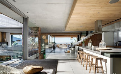 villa de lujo cemento piedra