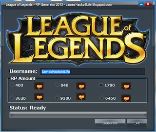 League of Legends RP Generator (Güncel)