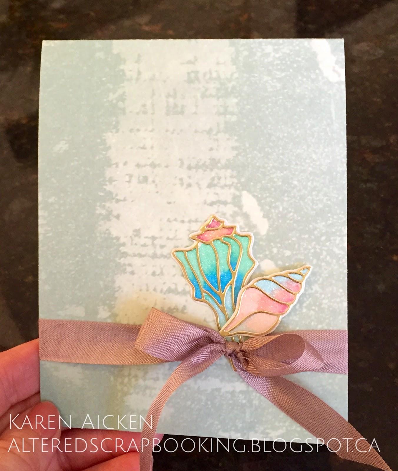 Altered Scrapbooking: Beach Themed Wedding Card