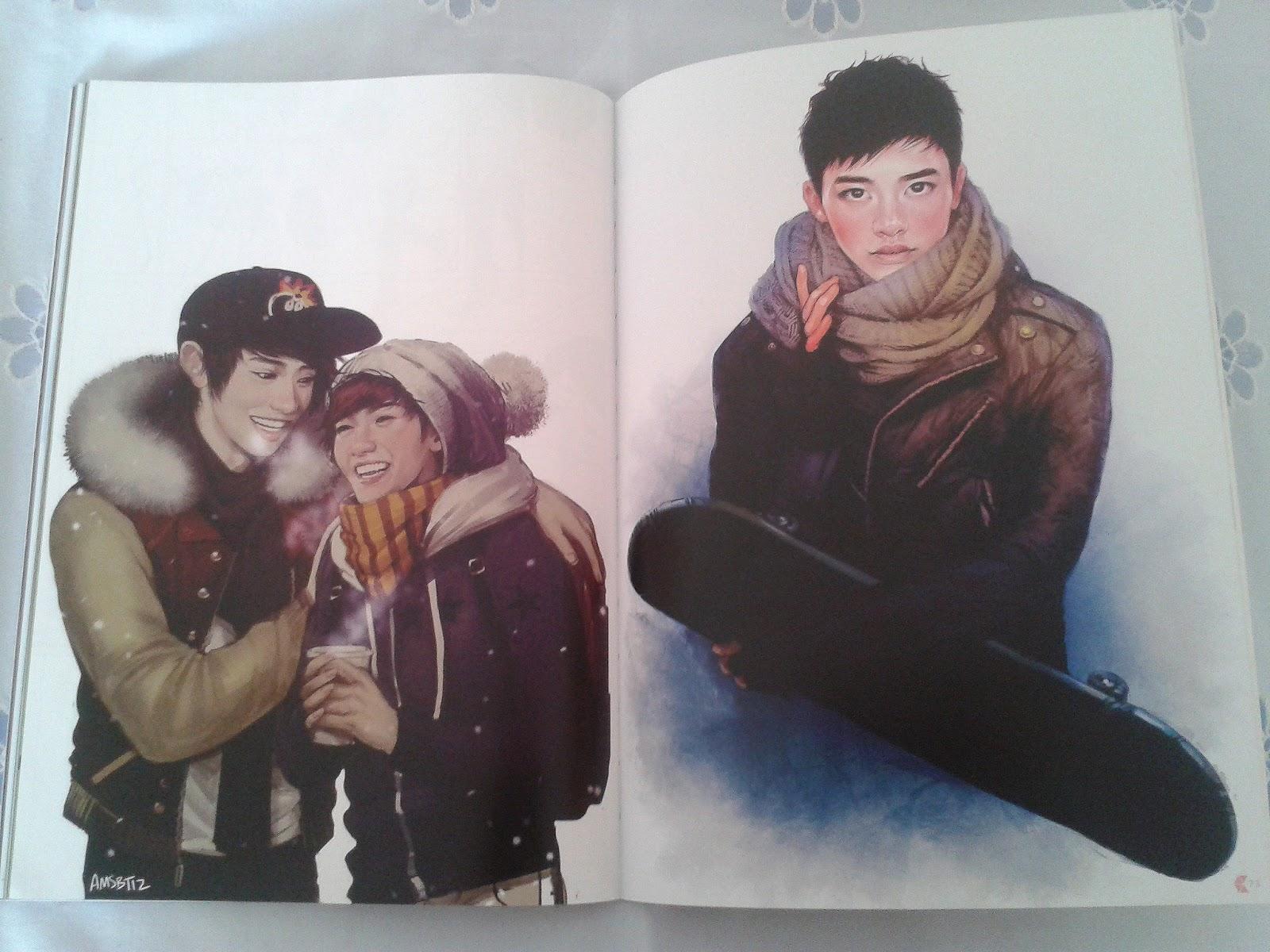 Nice Kpop Exo Sehun Chanyeol Xiumin Baekhyun D.o Kai Chen Lay Suho Fanart Postcard Post Cards Sticker Artbook Gift Cosplay Book Set Attractive Designs; Costume Props Novelty & Special Use
