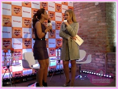A apresentadora Angélica e a cantora Wanessa Camargo no evento da Hipoglós