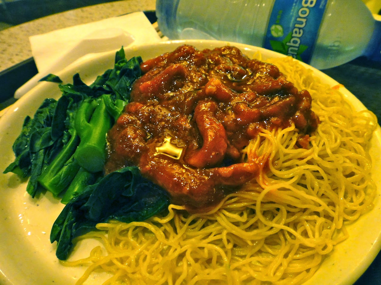 Minced Meat and Mushroom Noodles The Venetian Food Court Macao