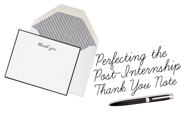 Perfecting The Post-Internship Thank You Note - Prep Essentials
