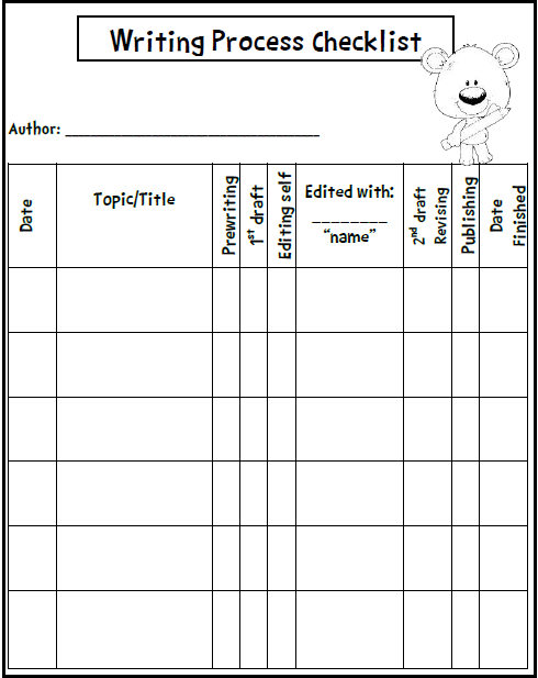 Free Writing Process Freebie