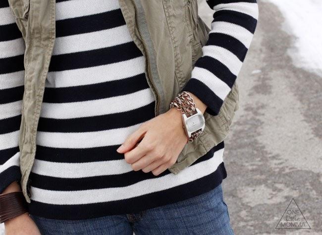 Stripes, military vest