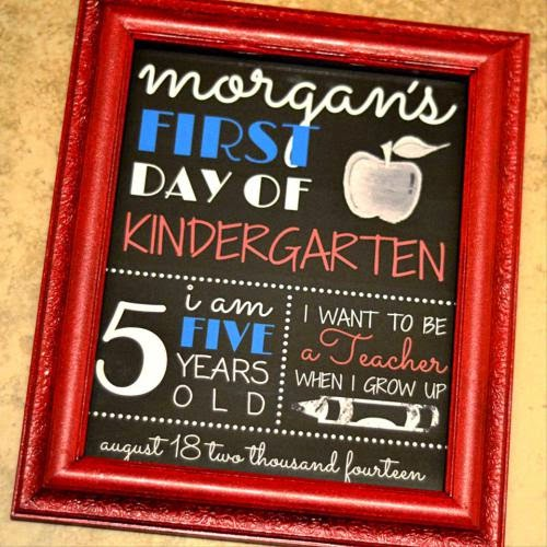 First Day of School Printable Photo Prop